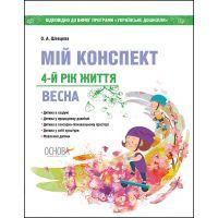 Воспитателю ДОУ Мой конспект Основа Весна 4-й год жизни (к программе Українське дошкілля)