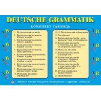 Комплект таблиц Пiдручники i посiбники Грамматика немецкого языка