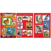 Набор карточек: Дикие животные и птицы