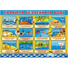 Плакат для дошкольников: Правила поведения на воде - Издательство Свiт поздоровлень - 0503-14