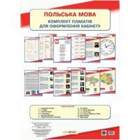 Комплект плакатов для оформления кабинета Пiдручники i посiбники Польский язык.