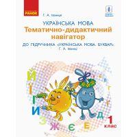НУШ. Украинский язык 1 класс. Тематическо-дидактический навигатор к учебнику Иваницы