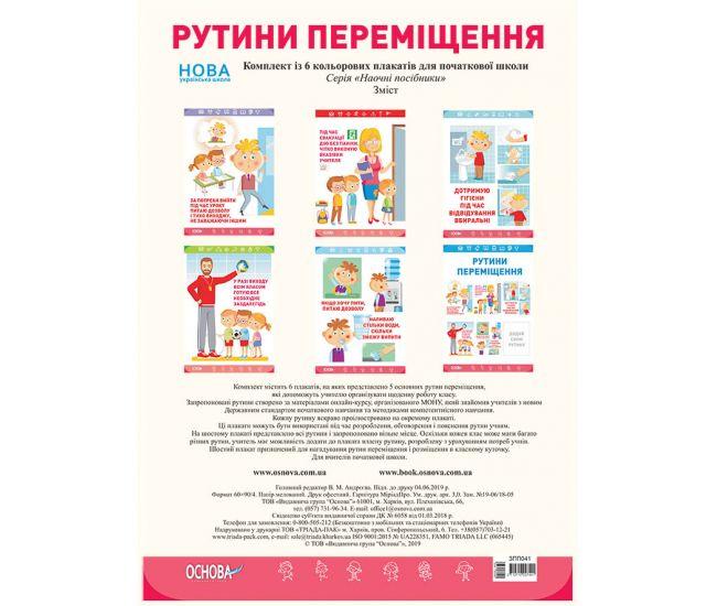 Комплект плакатов для школы: Рутины перемещения - Издательство Основа - ISBN 2712710027441