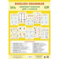 НУШ Комплект плакатов Пiдручники i посiбники Английская грамматика для 1-4 классов