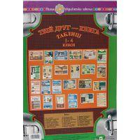 НУШ. Комплект наглядности: Твой друг - книга. 1-4 классы