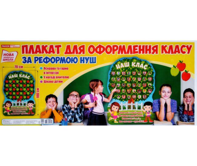 НУШ. Плакат стенд для оформления класса: Наш класс - Издательство Ранок - ISBN 123-13104204У
