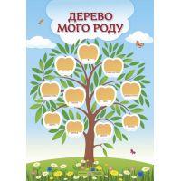 НУШ Плакат Пiдручники i посiбники Дерево моего рода (вертикальный)