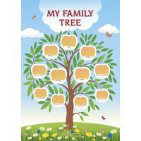 НУШ. Плакат: My family tre. Дерево моего рода