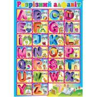 Плакат школьный: Английский алфавит разрезной