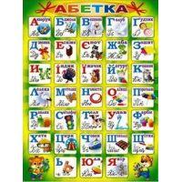Плакат школьный: Алфавит украинский
