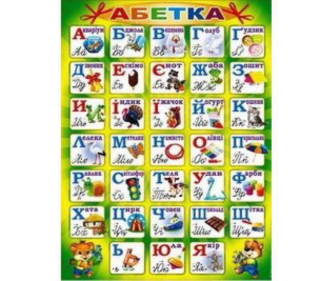 Плакат школьный: Алфавит украинский - Издательство Свiт поздоровлень - ISBN 1330033