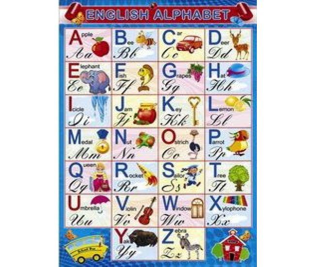 Плакат школьный: Английский алфавит - Издательство Свiт поздоровлень - ISBN 1330054