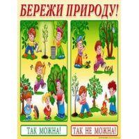 Плакат школьный: Береги природу!