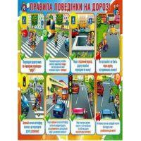 Плакат школьный: Правила поведения на дороге
