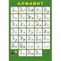 Плакат школьный Пiдручники i посiбники Русский алфавит Прописные буквы (ф.А2)
