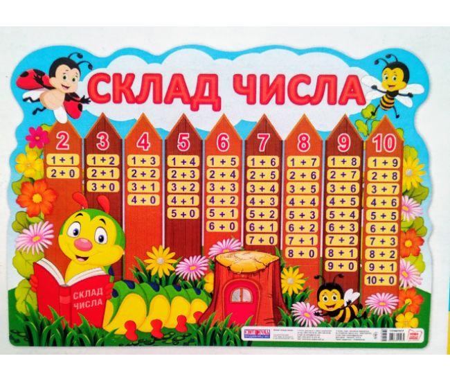 Состав числа. Фигурный плакат - Издательство Ранок - ISBN 13104191У