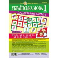 НУШ. Украинский язык 1 класс. Дидактические карточки. Ассоциации. Комплект 1
