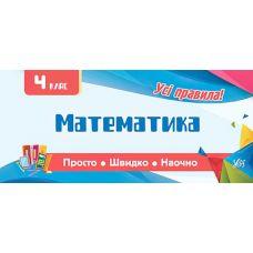Все правила: Математика 4 класс - Издательство УЛА - ISBN 978-966-284-605-8