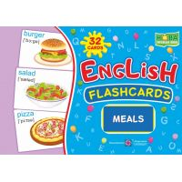 Комплект карточек. English: flashcards. Meals