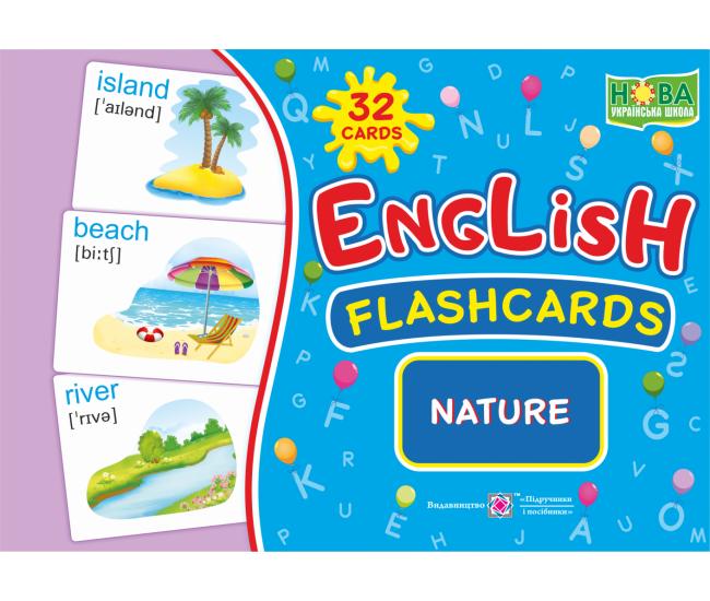 Комплект карточек. English: flashcards. Nature - Издательство Пiдручники i посiбники - ISBN 2255555502273