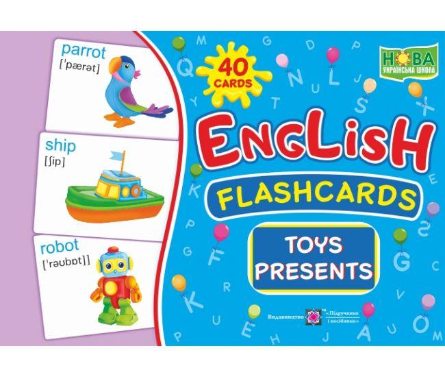 Комплект карточек. English: flashcards. Toys, presents - Издательство Пiдручники i посiбники - ISBN 2255555501986