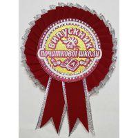 Значок выпускника начальной школы (красный с серебром)