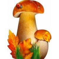 Украшение на скотче Осенние грибы