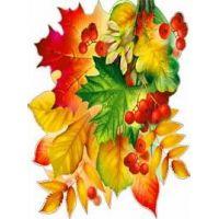 Украшение на скотче Осенние листья с рябиной
