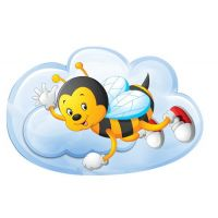 Декоративный элемент: Пчелка на облаке