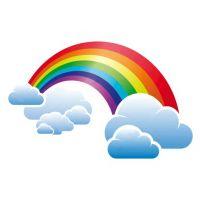 Декоративный элемент Радуга с облаком
