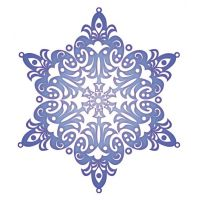 Декоративный элемент Снежинка новогодняя 019