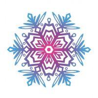 Декоративный элемент Снежинка новогодняя 022