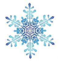 Декоративный элемент Снежинка новогодняя 025