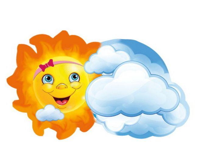 Декоративный элемент Солнышко с облаком - Издательство Этюд - ISBN Вм-016