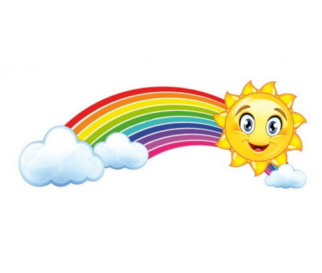 Декоративный элемент Солнышко с радугой