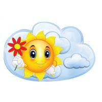 Декоративный элемент Солнышко с цветочком