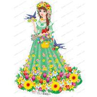 Фигурный детский плакат: Красавица Весна