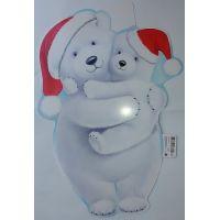 Фигурный плакат Белые медведи