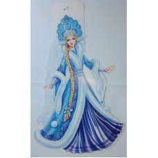Фигурный плакат Девушка Зима