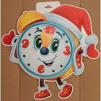 Фигурный плакат Новогодний будильник