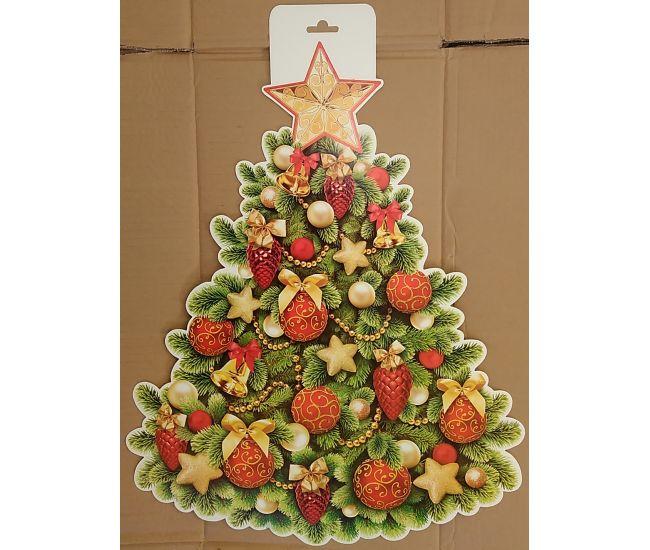 Фигурный плакат Новогодняя елка - ПФ-045