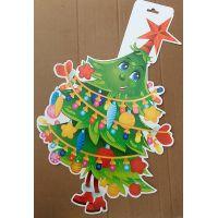 Фигурный плакат Новогодняя ёлка