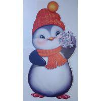 Фигурный плакат Пингвин