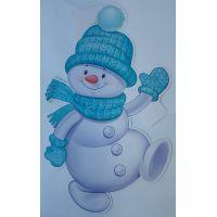 Фигурный плакат Снеговик