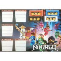 Ламинированное расписание уроков (Ninjago)