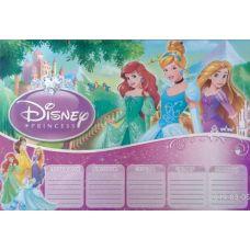Ламинированное расписание уроков (Disney Princess) - Издательство ОткрыткаUA - ISBN roz9