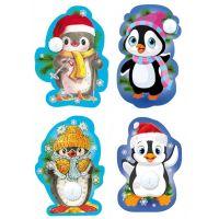 Набор новогодних декоративных элементов: Пингвин новогодний