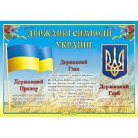 Плакат школьный Пiдручники i посiбники Государственная символика