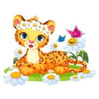 Плакат детский Леопард