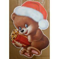 Плакат детский Мишка с подарком